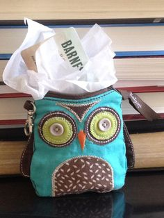 Know a book owl? If so this would be a great gift  - use our Owl Coin Purse and put a book store gift card inside!