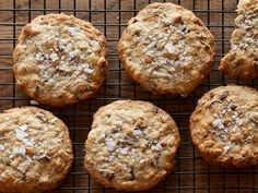 Super Yummy Chocolate Chunk Oatmeal Cookies recipe from Anne Burrell via Food Network