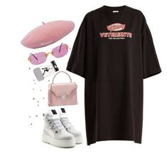 """Untitled #349"" by goldengyal ❤ liked on Polyvore featuring Vetements, Puma, Express and Alexander McQueen"