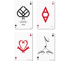 Typographic Playing Cards designed by Hat-Trick Design
