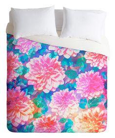 Loving this Marta Barragan Camarasa Pattern Bloom With Leaves Duvet Cover on #zulily! #zulilyfinds