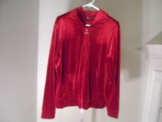 LADIES JACKET SIZE L CHERRY RED NICE TO WEAR WITH BLUE JEANS #Unbranded #BasicJacket