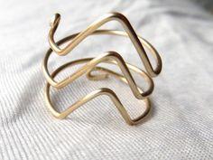 Triple Chevron Gold Wire Ring