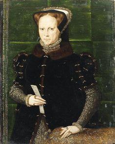 1550s_Queen Mary I  Artist: Hans Eworth