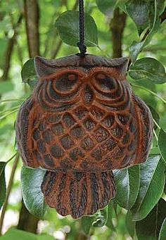 Until we have some owls living in our owl house, we're enjoying the sounds and company of this Owl Wind Bell, IsabellaCatalog.com