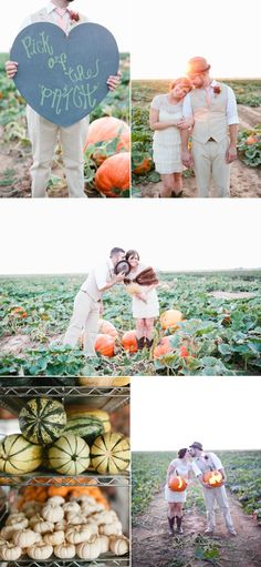 Photography By / http://mallorymorganphotography.com Love the Pick of the Patch sign!