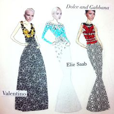 Haute couture dress designs for my art coursework. Inspired by Elie Saab, dolce and Gabbana and Valentino.