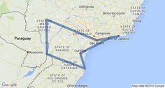 Southern Brazil Itinerary Map