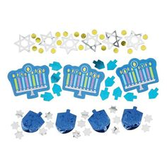 Check out Hanukkah Icons Mix Confetti - Bargain Supplies from Wholesale Party Supplies