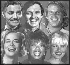 portraits of Aquarius Sun Signs, Clark Gable, Alan Alda, Nick Nolte, Cybill Shepherd, Oprah Winfrey, Gena Davis #Wodnik #Aquarius