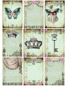 Crowns DIGITAL COLLAGE SHEET digital sheet by LandofEnchantment, $4.98