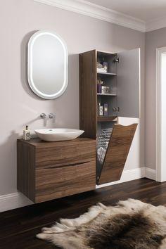 Glide II American Walnut Bathroom Furniture  Range from Crosswater http://www.bauhaus-bathrooms.co.uk/category/glide-ii-american-walnut/
