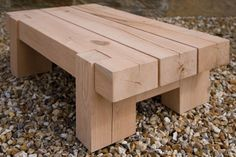 Outdoor Oak Side Table, handcrafted by Indigo Furniture Indigo Furniture, Diy Furniture Easy, Furniture Projects, Rustic Furniture, Garden Furniture, Furniture Plans, Kids Furniture, Rustic Wood Bench, Barn Wood
