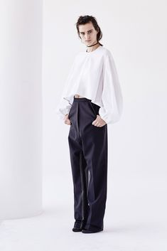 Ruffles have been the ever-present theme in the resort collections thus far. But only Kym Ellery can make ruffles so damn fashionably dramatic. White and black blazers and off the shoulder dresses in cascading, structural frills? And those Anita Pallenberg-inspired flared culottes?! A resounding