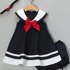 Navy Nautical Dress Set (@Zulily)