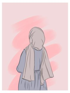 #hijab #girl #cartoon #hijabgirlcartoon Hijab Anime, Anime Muslim, Wallpaper Hp, Cute Girl Wallpaper, Art And Illustration, Cover Wattpad, Hijab Drawing, Islamic Cartoon, Hijab Cartoon