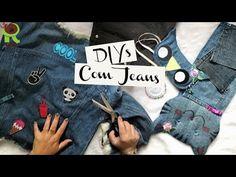 TRANSFORMANDO JEANS | 6 Idéias Ft. Customizando Mariely Del Rey - YouTube