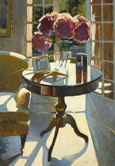 "PAUL RAFFERTY: "" Hydrangeas Contre Jour"" - What beautiful use of light"