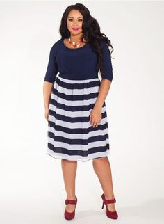 #plussize Brittany Plus Size Dress in Bold Azure at Curvalicious Clothes #plussizefashion  #bbw #curvy #fullfigured #plussize #thick #beautiful #fashionista #style #fashion #shop #online www.curvaliciousclothes.com TAKE 15% OFF Use code: SVE15 at checkout