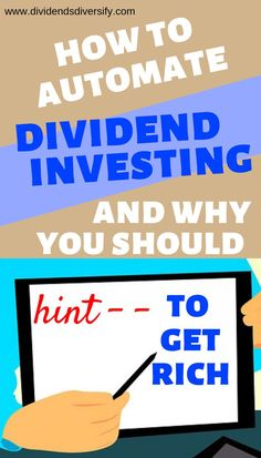 Dividend investing with dividend stocks is proven to make money. Take personal finance lessons from wealthy, rich millionaires. They automate their investments. You don't need a lot of money to get started, but get started you must. Investing Money, Saving Money, Dividend Investing, Dividend Stocks, Term Life, Investment Portfolio, Financial Planning, Financial Assistance, Money Management