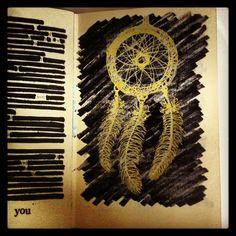 Dream catcher book art Josie Selfe
