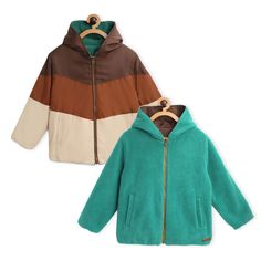Beaver Hooded Reversible Jacket Girls Coats & Jackets, Smart Jackets, Bunny Logo, Polo T Shirts, Casual T Shirts, Half Sleeves, Raincoat, Blue And White, Hoodies