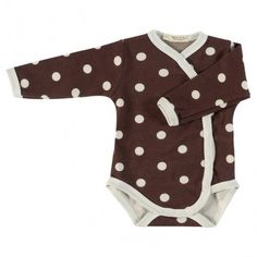 Body long sleeve, brown with dots, Pigeon Organics