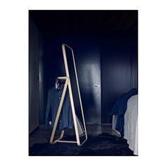 IKEA IKORNNES standing mirror Provided with safety film - reduces damage if glass is broken. Furniture Decor, Furniture Sets, Furniture Design, Masculine Interior, Joinery Details, Standing Mirror, Dark Interiors, Floor Mirror, Home Organization