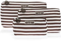 Henri Bendel Packable Travel Trio - Brown & White Stripe #ad #affiliate