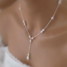 Fashion Wild Small Fresh Teardrop-Shaped Pearl Necklace – USD $ 5.99