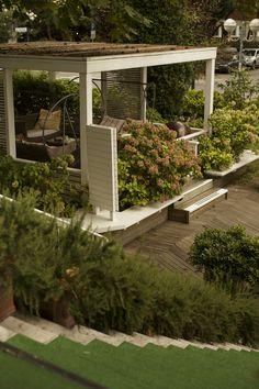 Gazebo in giardino, hotel saraceno milano marittima con giardino