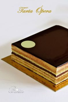 Opera cake, butter cream, and ganache Chocolate Caramels, Chocolate Desserts, Pie Cake, No Bake Cake, Mini Cakes, Cupcake Cakes, Opera Cake, Modern Cakes, Gingerbread Cake