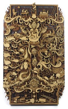 Laser-Cut Wood Illustrations by Martin Tomsky