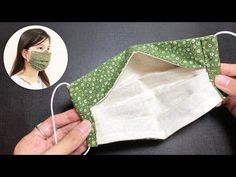Small Sewing Projects, Sewing Hacks, Sewing Tutorials, Diy Mask, Diy Face Mask, Face Masks, Fabric Crafts, Sewing Crafts, Mascara 3d