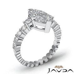 Fine Marquise Diamond Common Prong Set Engagement Ring EGL E SI1 Platinum 1 7 Ct | eBay