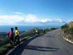 Empty roads along the south Italian Coast