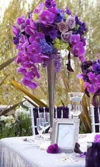 hydrangea and phalaenopsis centerpieces - Google Search