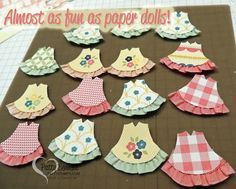 Too Cute! Baby Girl Dresses! Use the Stampin' Up! Owl Builder punch and ruffled ribbon to create the dresses!  by Patty Bennett, www.PattyStamps.com