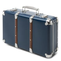 Made of cardboard, with corners and edges bent from the material and riveted side parts. Corners and edges reinforced by steel sheet; lid and bottom of the case reinforced by attac. - Cardboard Suitcases with Wooden Slats at Manufactum Wooden Slats, Wooden Frames, Cardboard Suitcase, Large Suitcase, Steel Sheet, Toy Storage, Two By Two, Suitcases, Gift Ideas