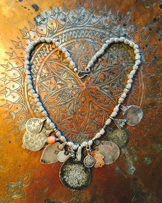 Antique Moroccan Berber Amulets+Silver Beads - Victoria Z Rivers Jewelry withAntique Moroccan Silver Amulets++Coral+Coins+Trade Beads+ Tribal Diamonds