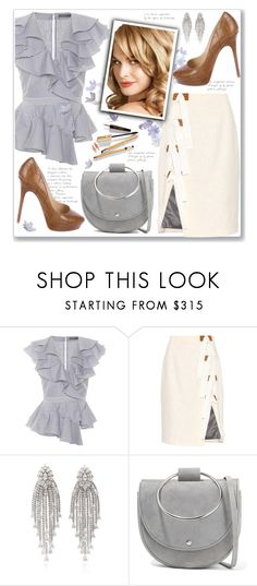 """""""Celeste"""" by paperdolldesigner ❤ liked on Polyvore featuring Alexander McQueen, Altuzarra, Dolce&Gabbana, Theory, Jimmy Choo, ruffles and RuffLyfe"""