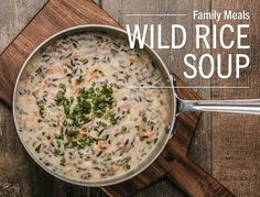 Lunds & Byerlys Wild Rice with Ham Soup recipeIf you're looking for something warm and cozy to serve your family on those cold winter nights, our classic Wild Rice Soup is it. This thick, home-style...