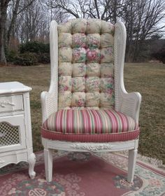 French Provincial upholstered chair