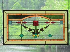 Stained Glass Arts and Crafts MacIntosh Rose by RenaissanceGlass, $375.00