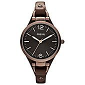 Fossil Watch, Women's Georgia Brown Leather Strap 32mm ES3200 love it