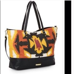 500f19d3f93 Get one of the hottest styles of the season! The Steve Madden Tribal Print  Multi-Colored Tote Bag is a top 10 member favorite on Tradesy.