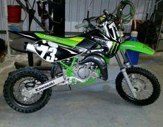 My new Kawaski KX65 Motorcross Bike!!!!