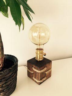 Modern/Rustic/ Table Lamp/ Desk Lamp  Light  Edison by MadeByTommy