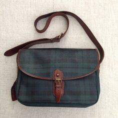 Polo Ralph Lauren Oil Canvas Leather Large Messenger Bag by ENGARLAND on Etsy