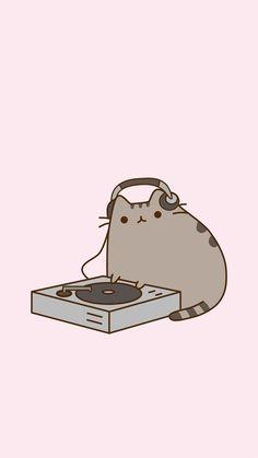 This should be your wallpaper Cat Wallpaper, Kawaii Wallpaper, Wallpaper Iphone Cute, Kawaii Doodles, Cute Kawaii Drawings, Pusheen Love, Cute Cat Memes, Cute Pokemon, Cat Drawing